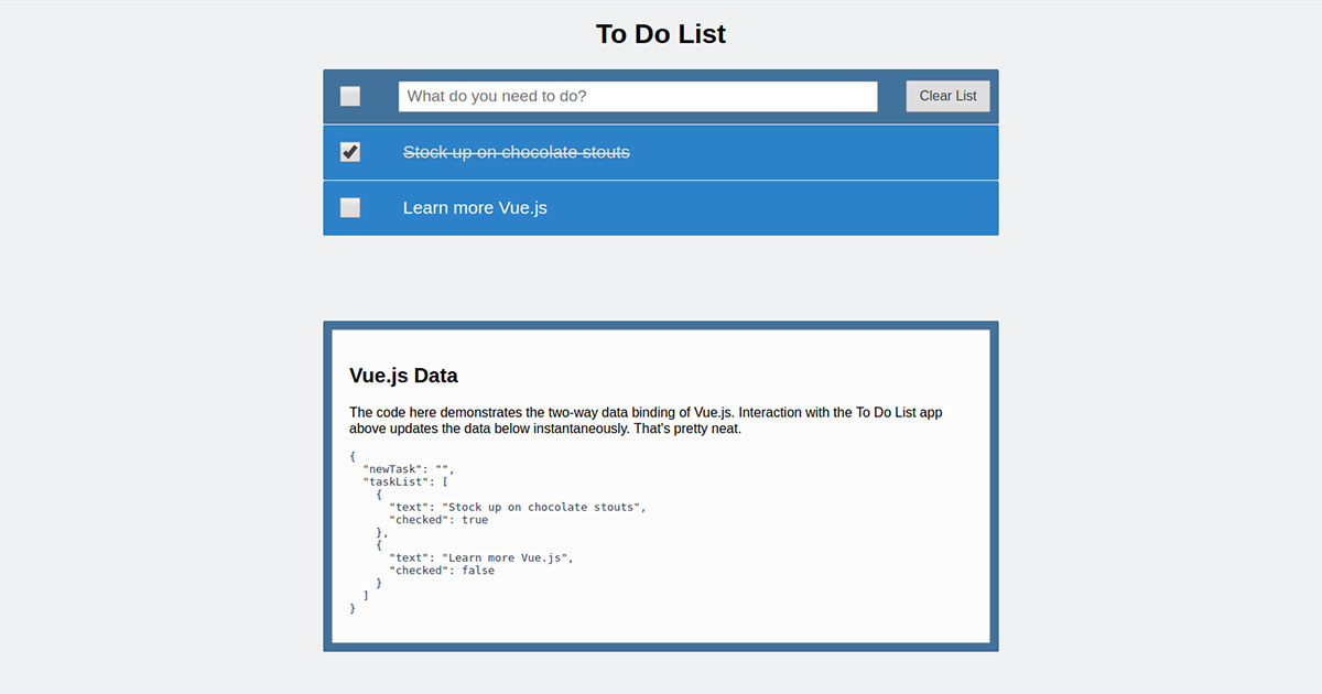 To Do List App