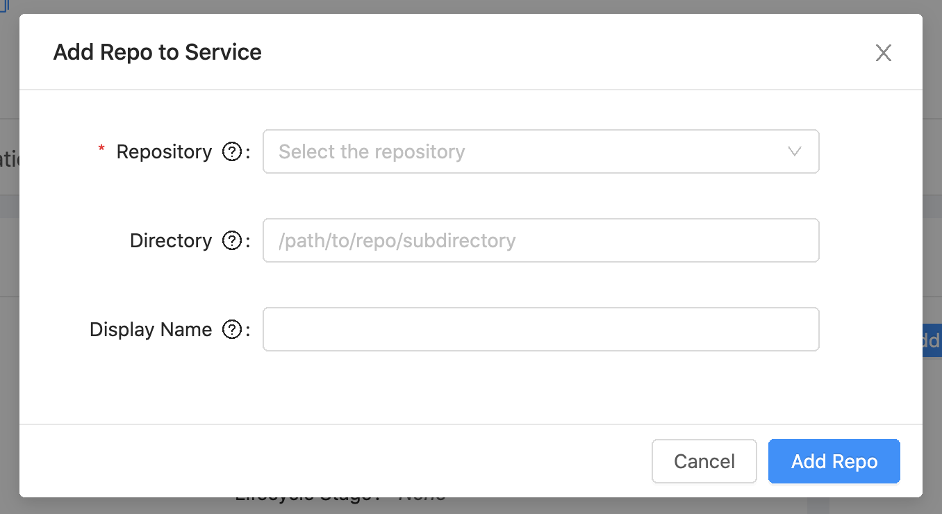 Add Repository Modal