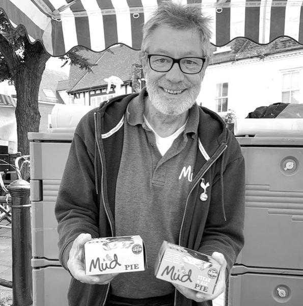 Steve at the market stall