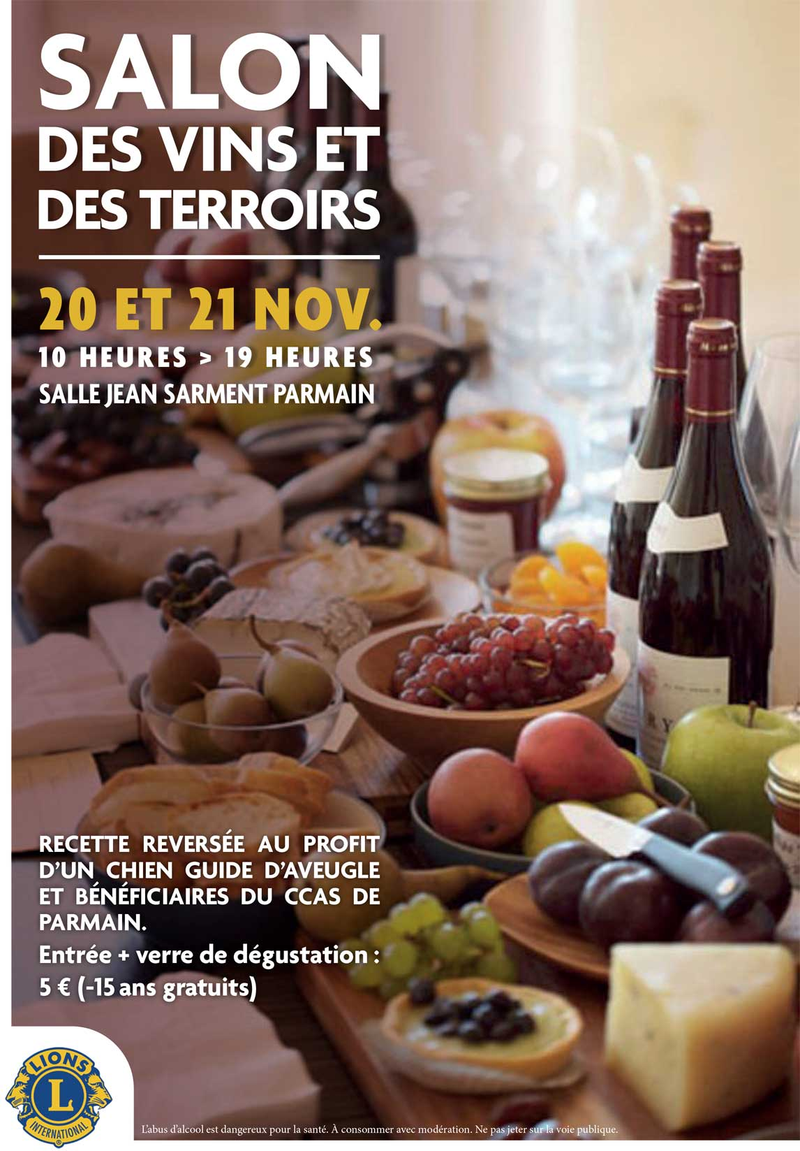 Salon des vins et des terroirs à Parmain le 20 et 21 novembre 2021
