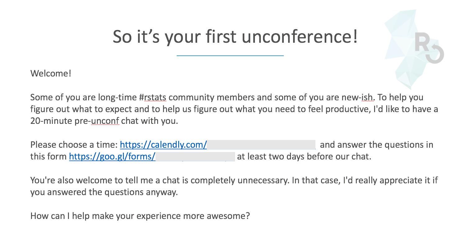 pre-unconf-email