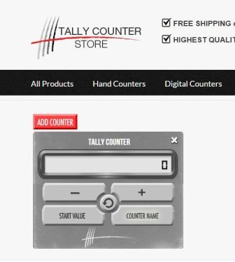 Screenshot of finished tally counter in place on tallycounterstore.com