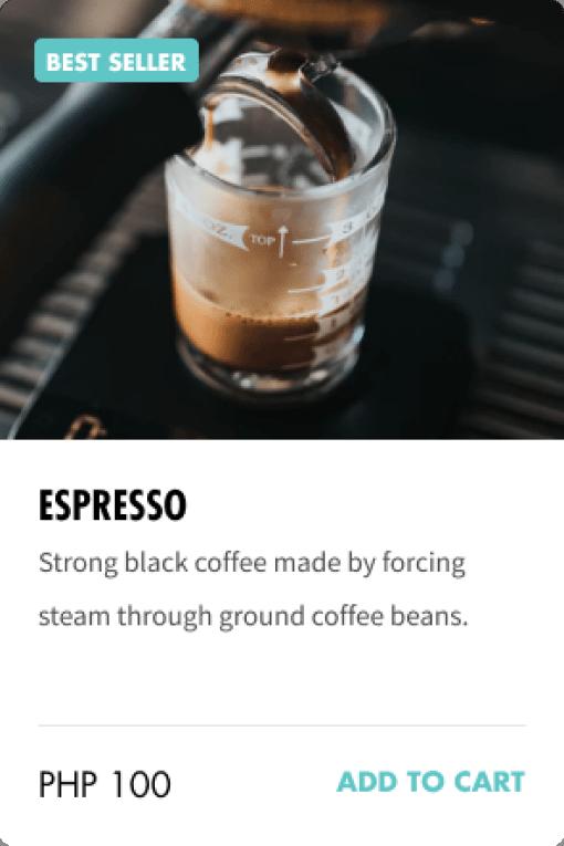 Espresso item