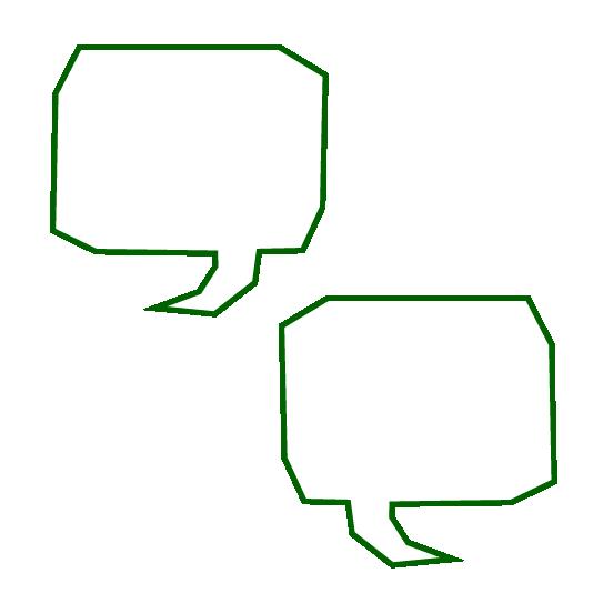 two speech bubbles icon