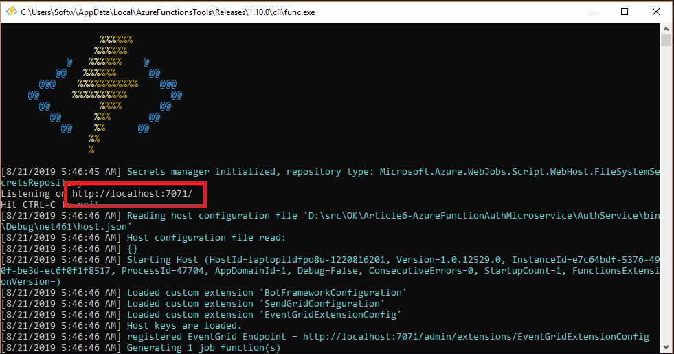 Run Azure Function Locally
