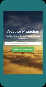 Weather Prediction - phone
