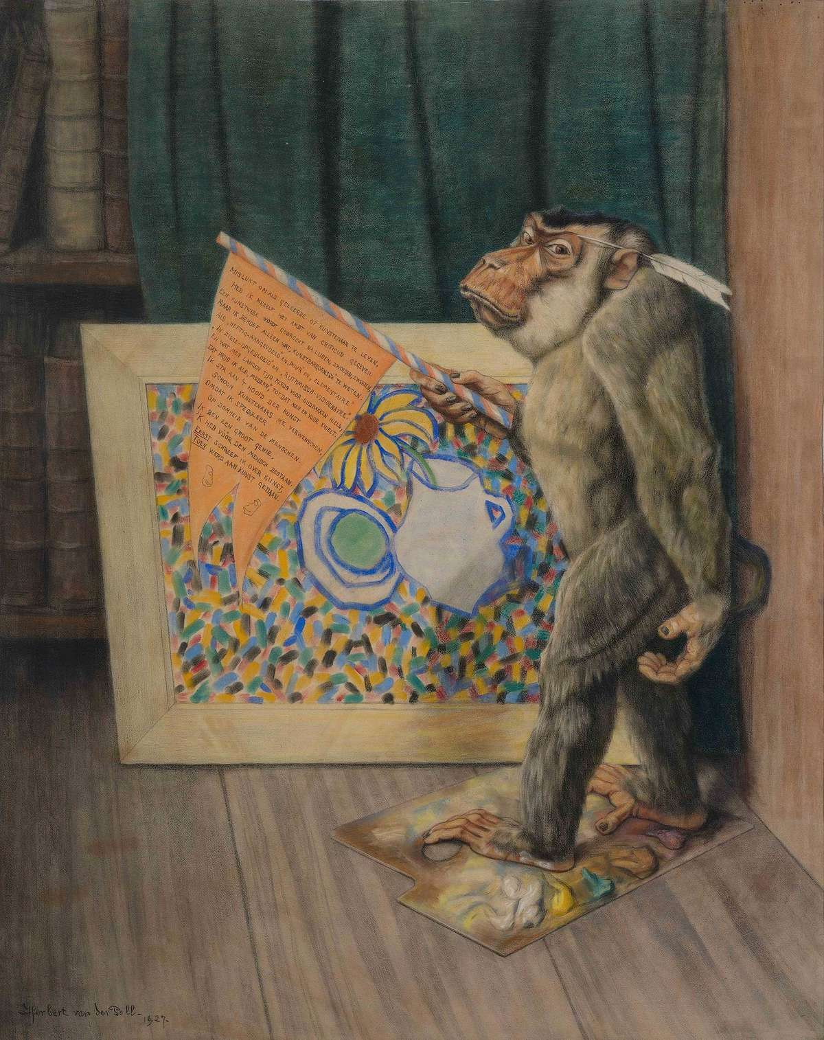 The Art Critic, by Daniël Herbert van der Poll (1877-1963), 1927