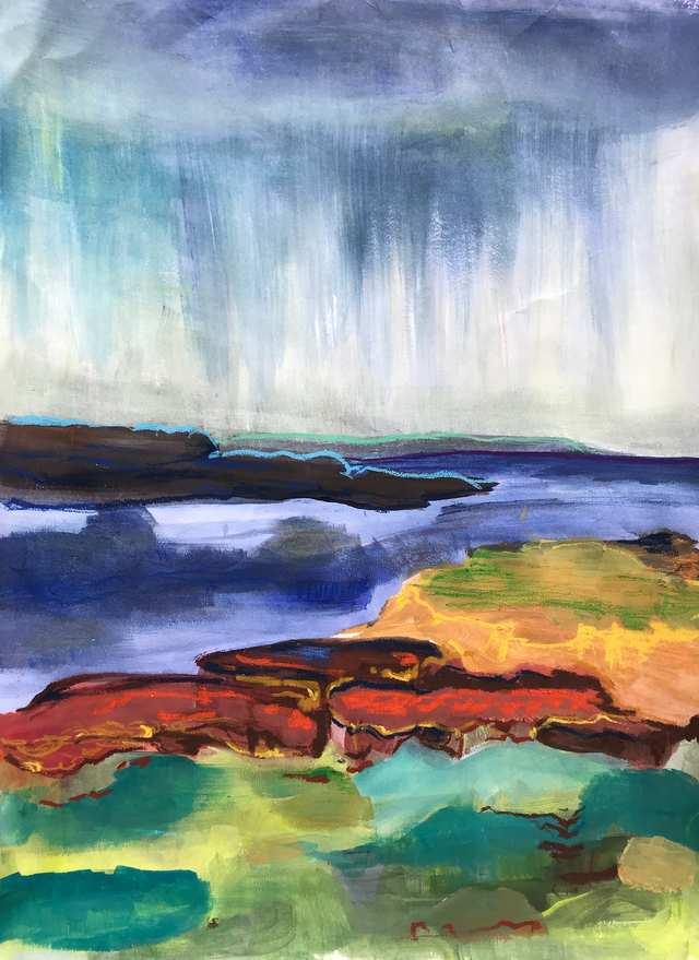 Oceania Feeling Bawley Point, acrylic on paper