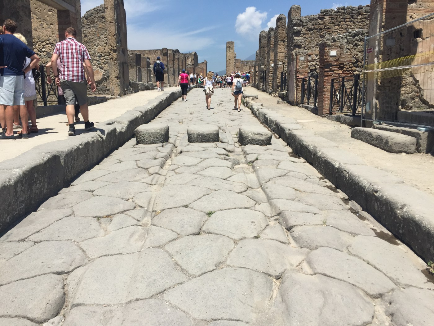 Speed bumps in ancient Pompeii
