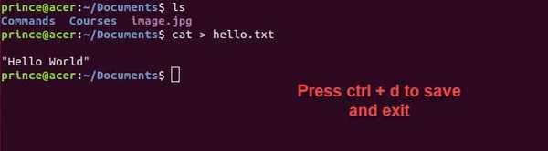 cat basic linux command