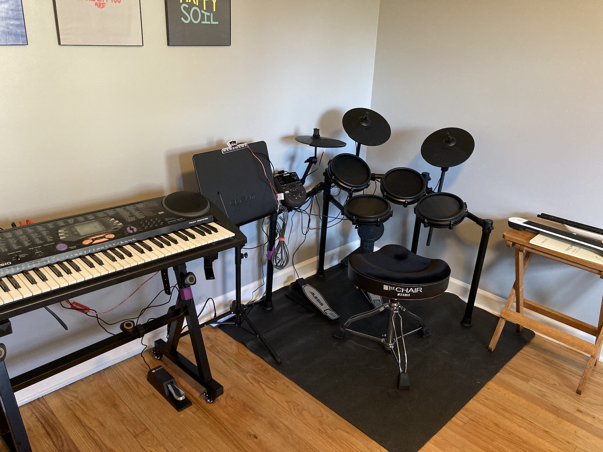 A photo of my music studio in my office