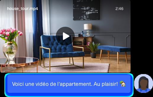 Envoyez des vidéos de visites virtuelles