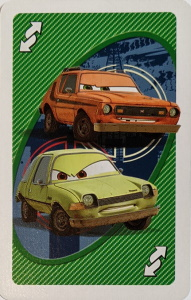 Cars 2 Green Uno Reverse Card