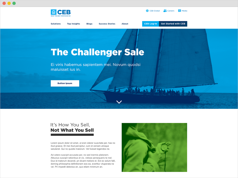 web page header design