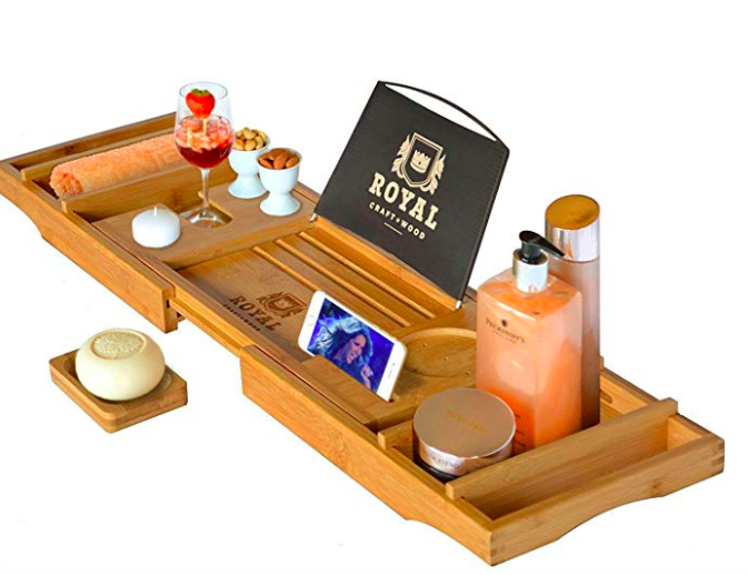 Bamboo Bathtub caddy tray