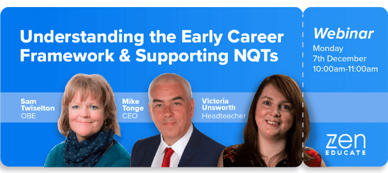 Understanding the Early Career Framework and Supporting NQTs: Key insights from our webinar