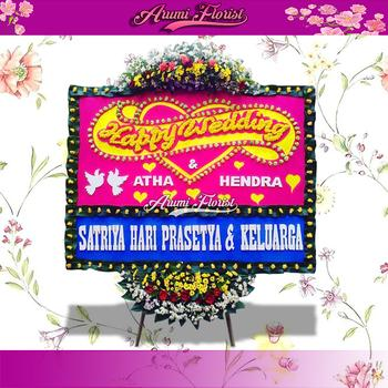 Bunga Papan Happy Wedding 21