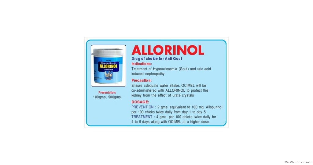 Drug Of Chioce for Anti Gout.