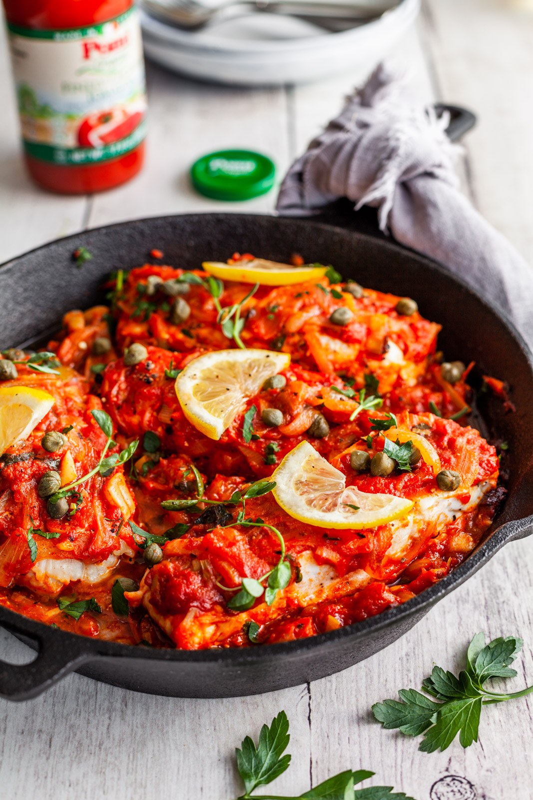 Greekstyle Baked Fish With Tomatoes and Onions (Bourdeto)