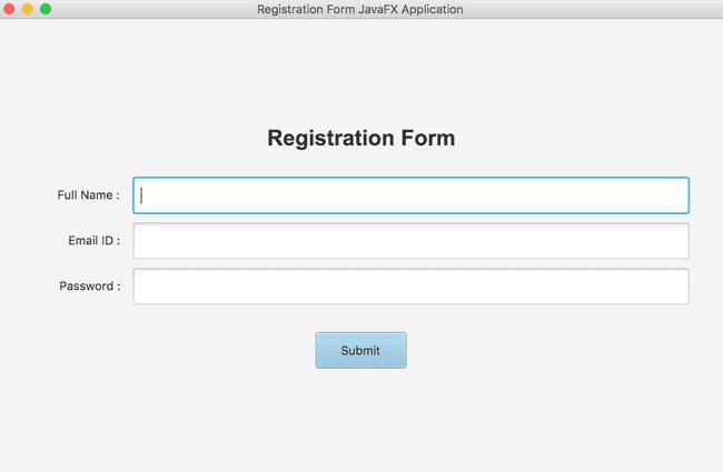 Creating a registration form in JavaFX