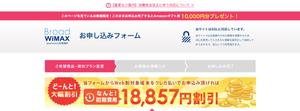 Broad WiMAXの限定キャンペーン申し込みフォーム
