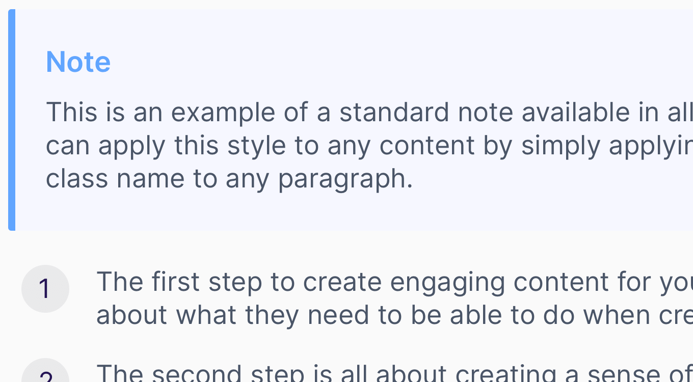 Content styles