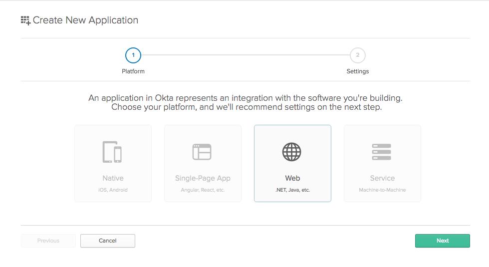 Create Okta App