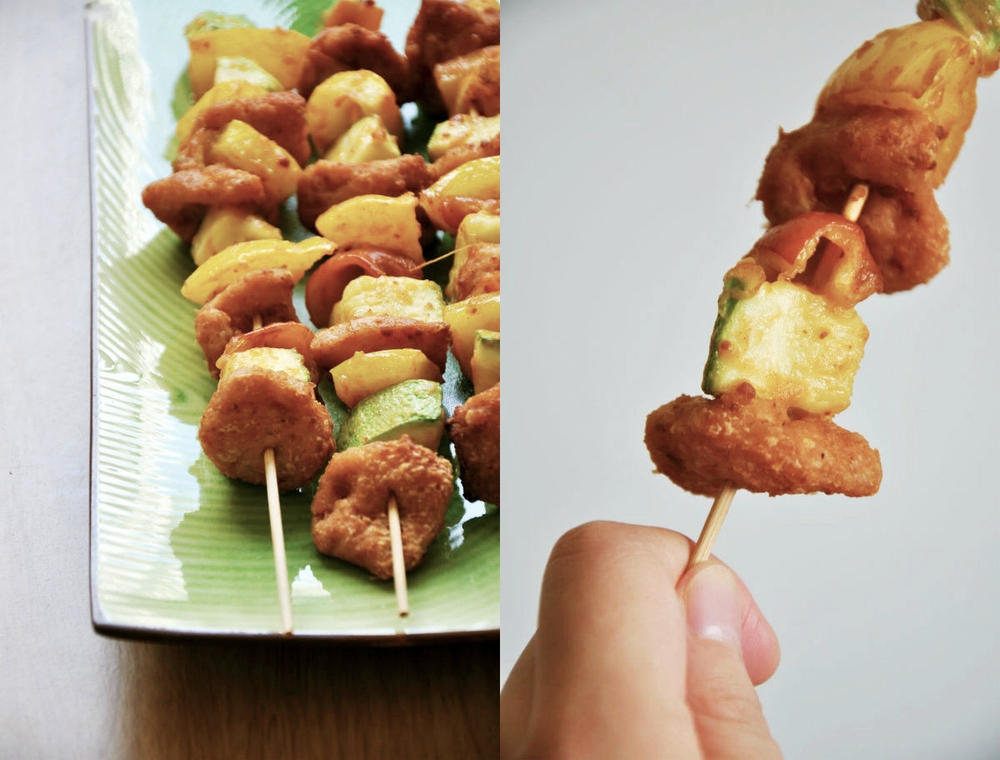 Soy Protein Barbecue with Satay Sauce