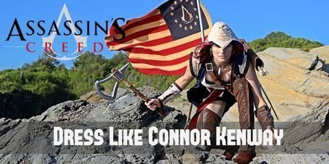 Connor Kenway's outfit has designs that are heavily influenced by Native American culture, like his necklace, boots, and choice of weapons.