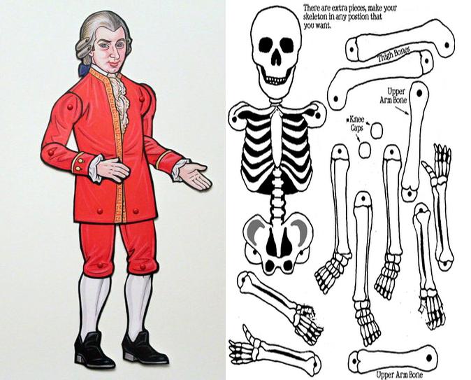 foto skelet en pop