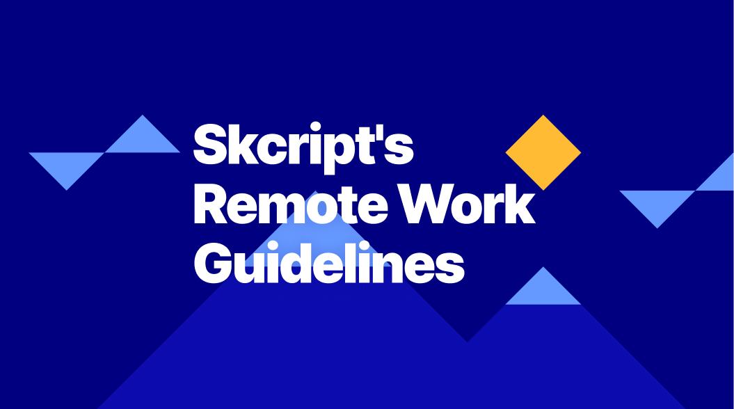 Skcript's Remote Work Guidelines