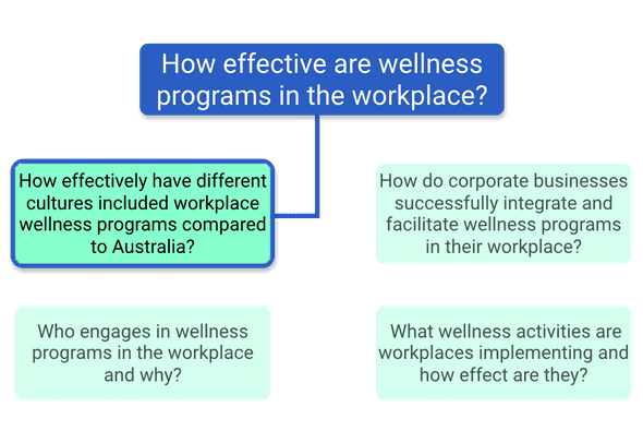 Wellness Program Research Question List Map. Other research questions not explored in this post*