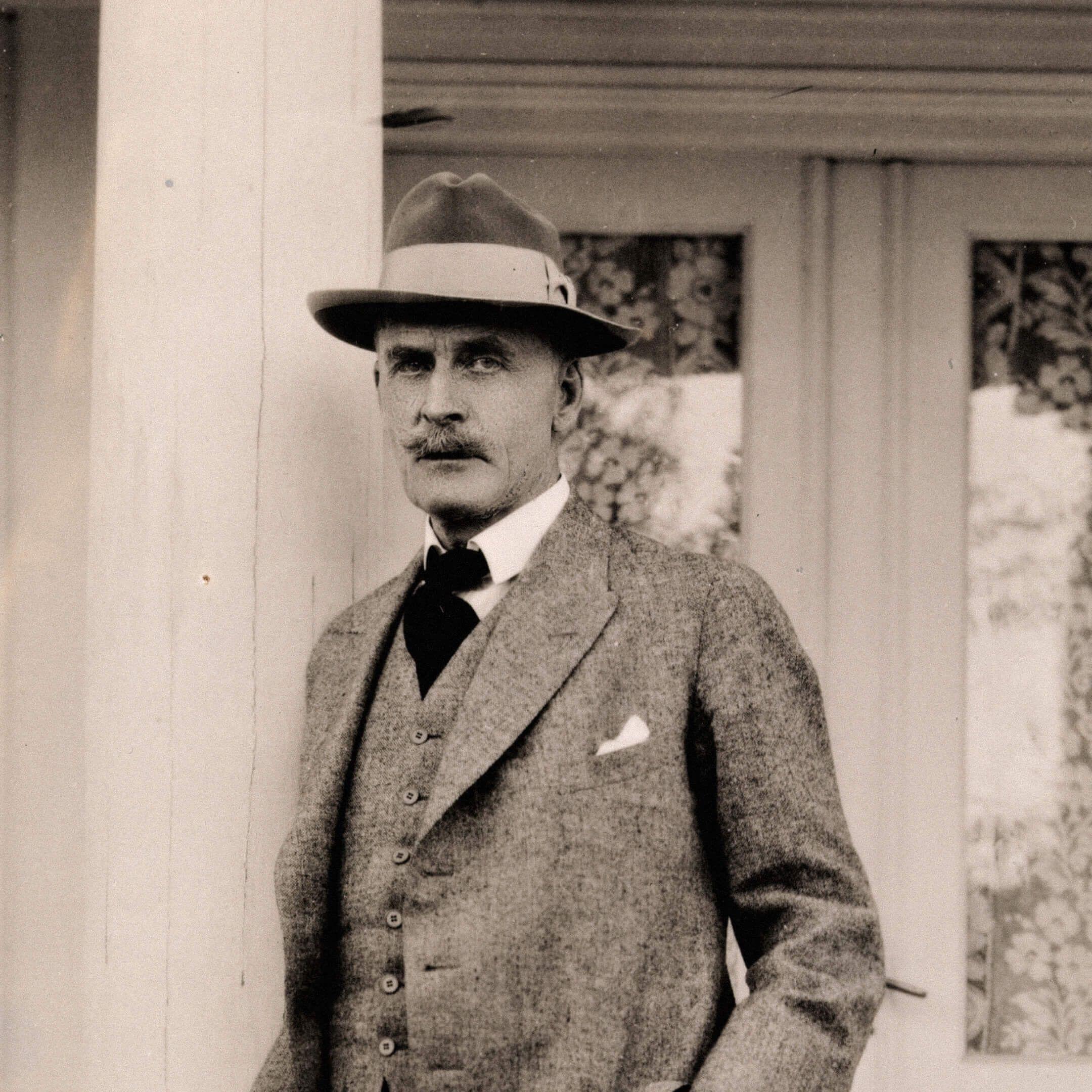 Портрет Кнута Гамсуна, Норхольм, 1927г. / Фотограф Андерс Бир Вильс, flickr.com