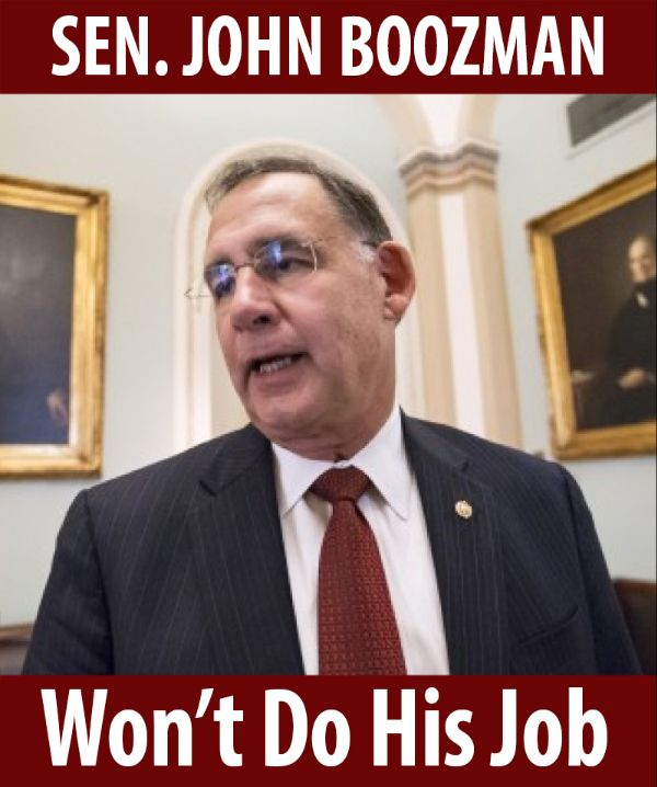 Senator Boozman won't do his job!