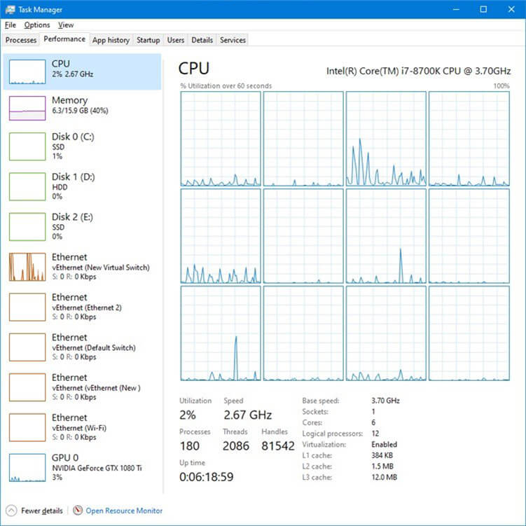 A PIC OF THE TASK MANAGER WINDOW