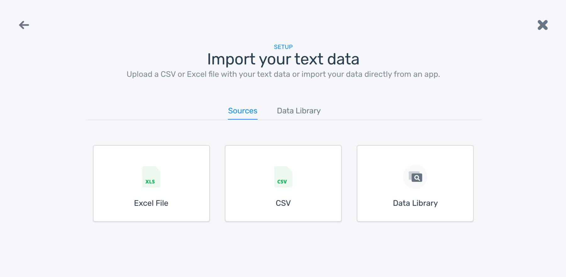 Import data to your classifier