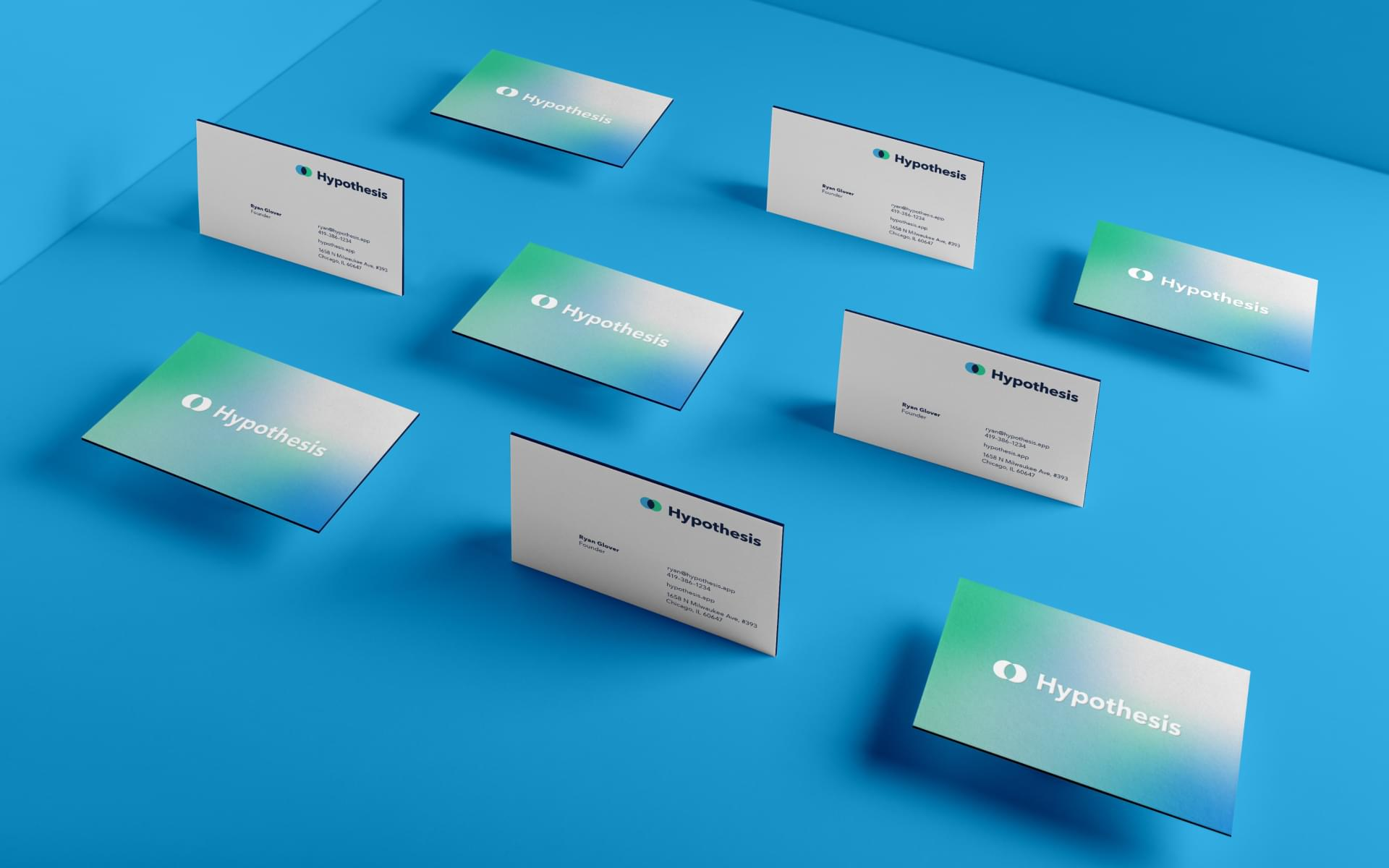 Business card design for SaaS startup Hypothesis