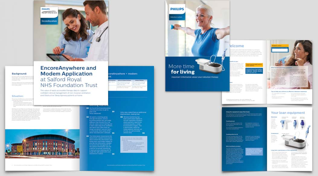 B2B and B2C Print Materials for Philips