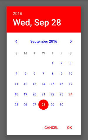 DatePickerAndroid React Native Style