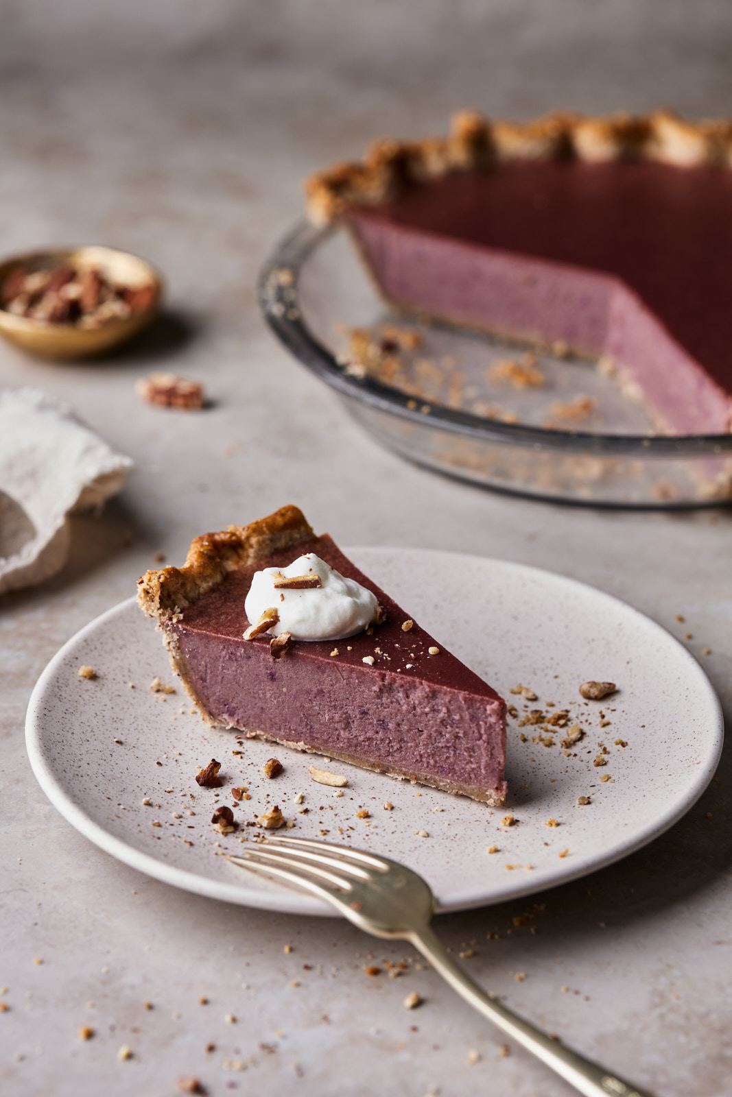 Sweet Potato Pie With Pecan Crust