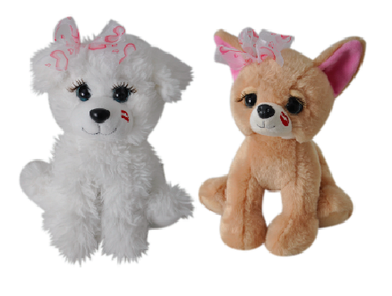 "The Petting Zoo: 10"" Valentine Lash'z Assorted Bichon & ChiChi"
