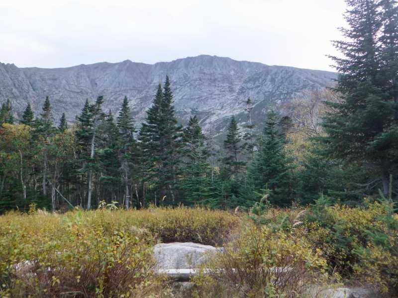 View of Pamola and ridge near Mt. Katahdin