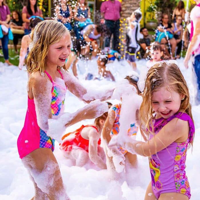 Foam party for kids.
