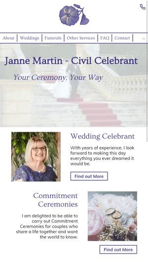 Desktop screenshot of Janne Martin