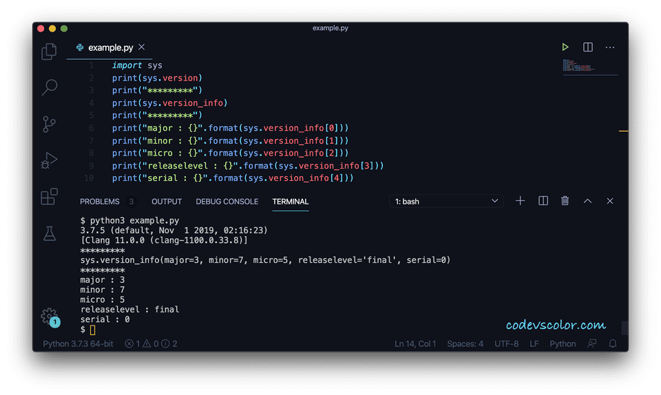 Python sys version info