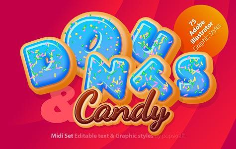 Donuts Adobe Illustrator Graphic style donuts_1_cover.jpg