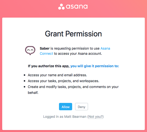 Asana Integration Stage 2