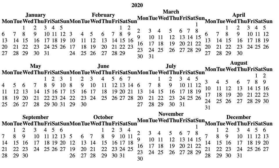 python calendar html year