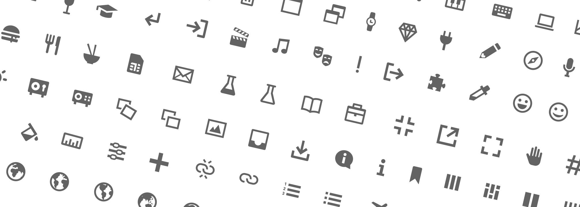 Icon set specimen