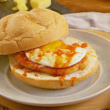 Maple-Peameal Breakfast Sandwich